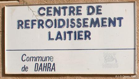 Sénégal-La filière lait, du global au local-Ce qui reste du lait à Dahra-Panneau de l'ancien centre Nestlé à Dahra