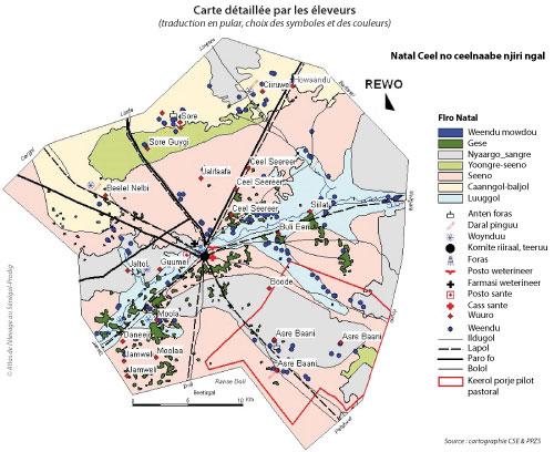 Sénégal - Carte retravaillée par les éleveurs