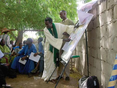 Sénégal - Cartographie participative à Thiel en 2002