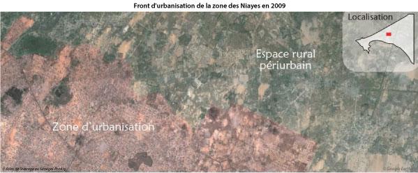 Sénégal-La filière lait, du global au local-Du lait à la périphérie de Dakar-Front d'urbanisation de la zone de Niayes en 2009