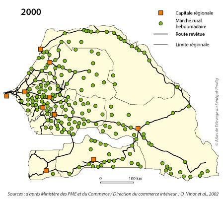 Sénégal-Le commerce de bétail sur pied-Le développmement des marchés hebdomadaires-Les loumos en 2000