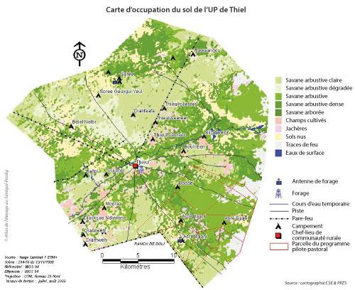 Sénégal - Carte d'occupation du sol de l'UP de Thiel