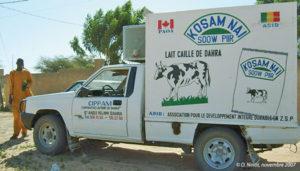 Le véhicule réfrigéré de collecte de l'ADID